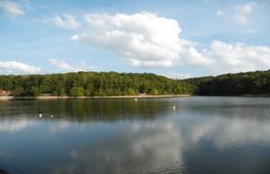 Le Lac de Pont à proximité de la roulotte de bourgogne
